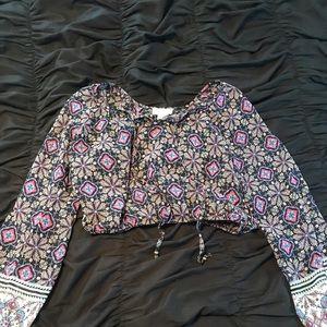LA Hearts cropped blouse